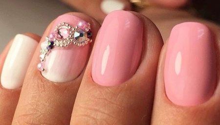 Особливості рожевого манікюру на короткі нігті