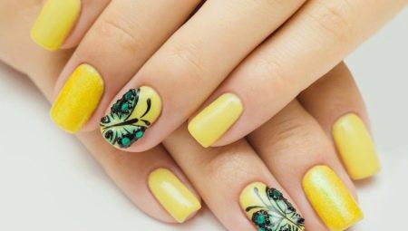 Особливості жовтого манікюру на коротких нігтях