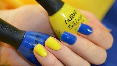 Варіанти синьо-жовтого манікюру