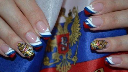 Манікюр з прапором Росії – ідеї дизайну для справжніх патріотів