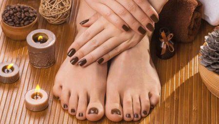 Манікюр з коричневим гель-лаком: дизайн і декор