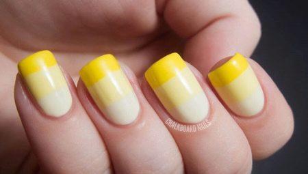 Манікюр з жовтим гель-лаком