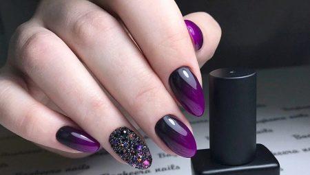 Ідеї для дизайну нігтів фіолетовим гель-лаком