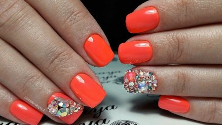 Дизайн c гель-лаком в помаранчевих відтінках
