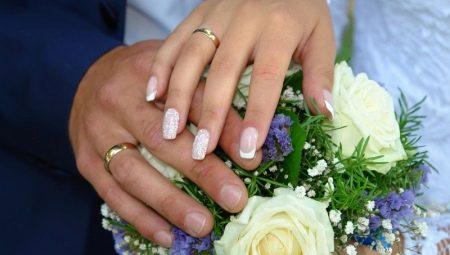 Весільний манікюр за допомогою гель-лаку