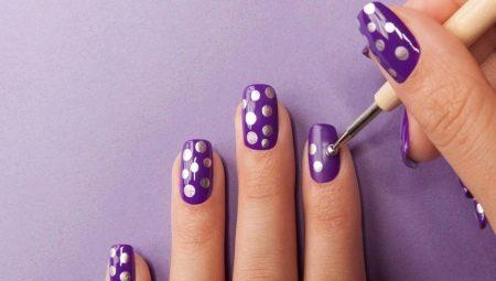 Прості малюнки гель-лаком на нігтях для початківців