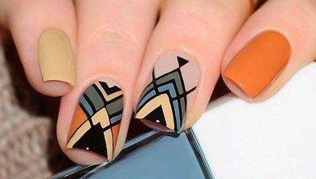 Геометрія гель-лаком на нігтях: ідеї дизайну і покрокове створення