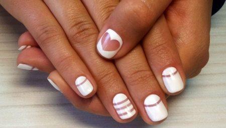 Білий шелак в дизайні нігтів