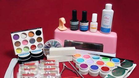 Список інструментів та матеріалів для нарощування нігтів гелем