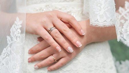Ідеї весільного дизайну манікюру для нарощених нігтів