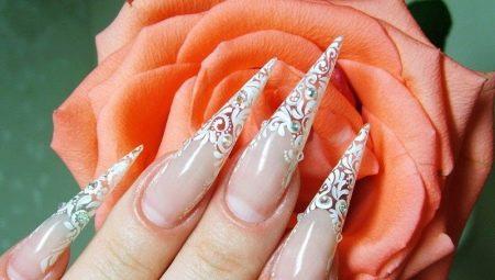 Стильний дизайн нігтів у формі піки і техніка їх створення