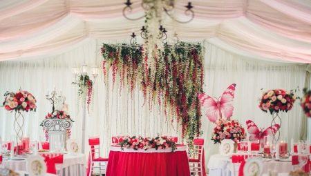 Ідеї для оформлення весільного залу квітами
