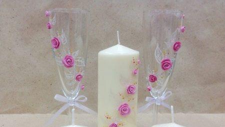 Як своїми руками прикрасити свічки на весілля?