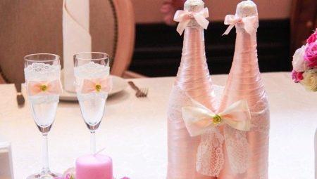 Прикраса пляшок на весілля: способи та цікаві приклади