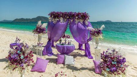 Цікаві ідеї для оформлення весілля в бузковому кольорі