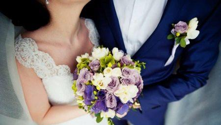Букет нареченої і бутоньєрка нареченого: як вибрати і поєднувати?