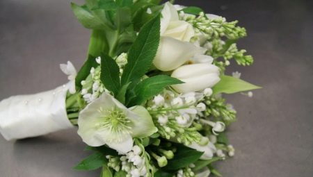 Біло-зелений букет для нареченої: варіанти оформлення і нюанси вибору