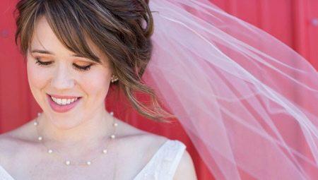 Ідеї для весільних зачісок з фатою на коротке волосся