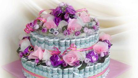 Як зробити торт з грошей на весілля своїми руками?