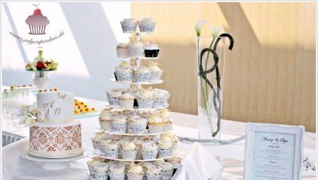 Капкейки на весілля: особливості, оформлення та подача
