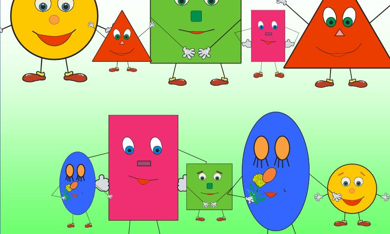 Тема «Геометричні фігури» англійською мовою для дітей: необхідні слова, вправи, діалог, фрази, пісеньки, картки, ігри, завдання, загадки, мультики для дітей на англійській мові з транскрипцією та перекладом для самостійного вивчення з нуля