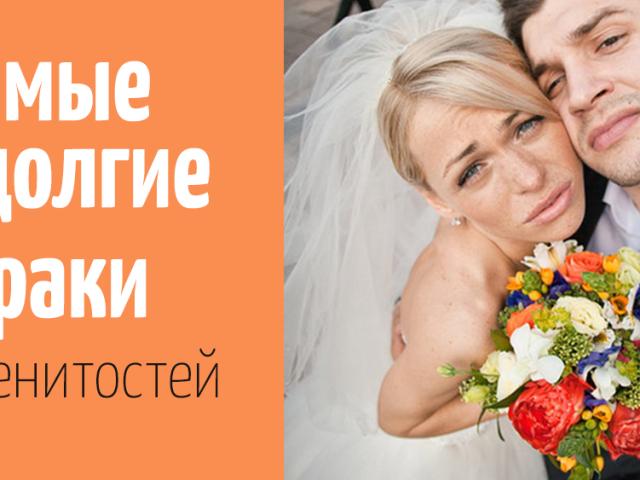 Найкоротші шлюби російських зірок: топ-10 шлюбів, які не тривали і року
