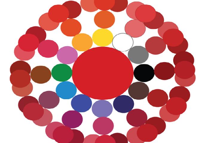 Які кольори змішати, щоб вийшли різні відтінки червоного: бордовий, малиновий, вишневий, кораловий