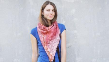 Валяного шарф